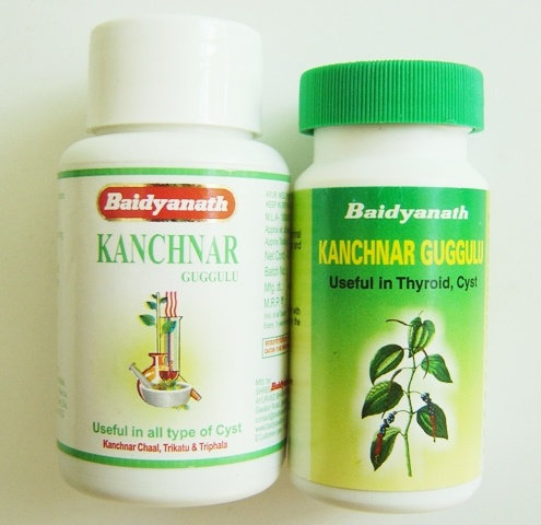 КАНЧНАР ГУГГУЛ (Kanchnar guggulu) Baidyanath, 80 таблеток