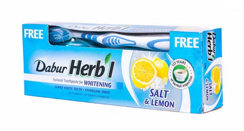 ХЕРБЛ СОЛТ & ЛЕМОН зубная паста Соль и Лимон + щетка (Herb'l Salt & Lemon Toothp