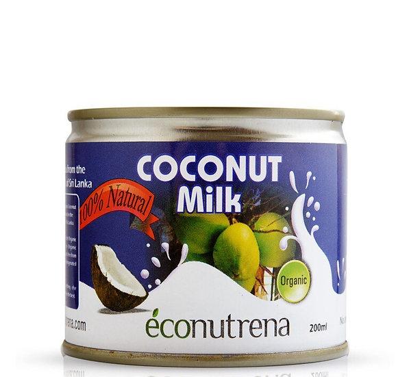 МОЛОКО КОКОСОВОЕ Органическое жирн. 17%, Econutrena, 200 мл.