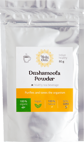 Дасамула порошок (Dashamoola Powder) чайный напиток, 80 г