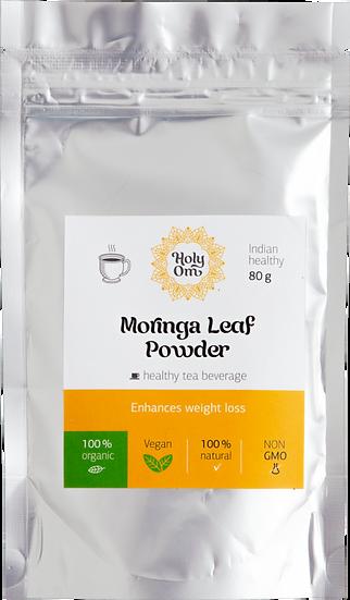 Моринга порошок из листьев (Moringa Leaf Powder) чайный травяной напиток, 80 г
