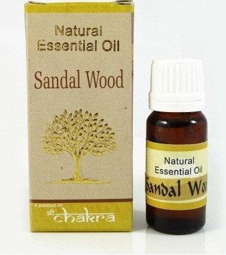 Эфирное масло сандалового дерева, Natural essential sandalwood oil, 10 мл.