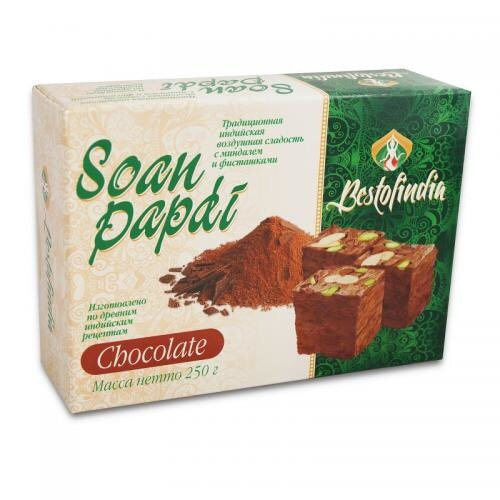 ВОЗДУШНЫЕ ИНДИЙСКИЕ СЛАДОСТИ СОАН ПАПДИ ШОКОЛАД (Soan Papdi Chocolate), Bestofin