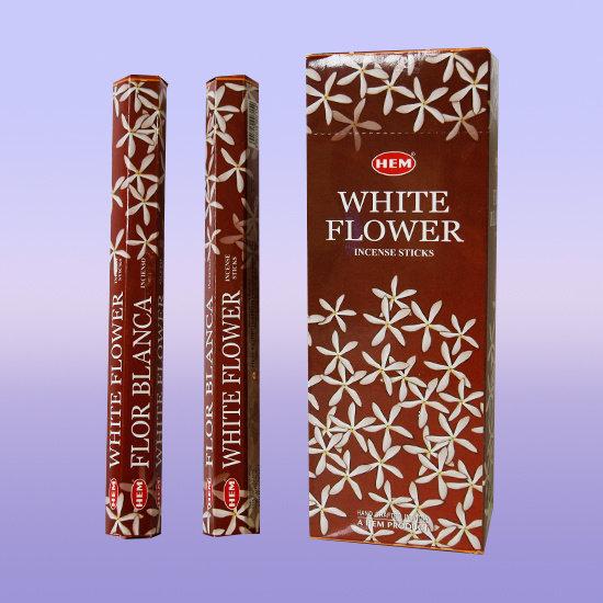 Благовония Белый цветок (White Flower) HEM