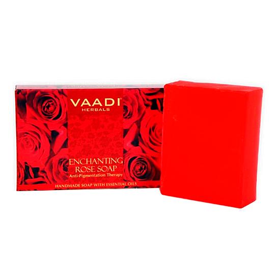 МЫЛО ВОЛШЕБНОЕ из розы для антипигментной терапии Vaadi Herbals 75 г