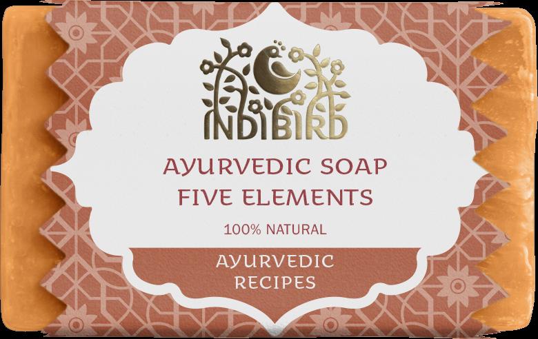 АЮРВЕДИЧЕСКОЕ МЫЛО ПЯТЬ ЭЛЕМЕНТОВ (Five Elements Ayurvedic Soap) Indibird, 100г