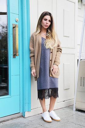 Платье-комбинация из плотного трикотажа