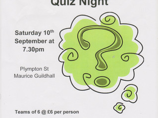 The Friends of the Guildhall (FroGs) present the Quiz Night! Please see below for details: