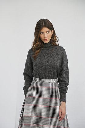 Объемный кашемировый свитер с горлом