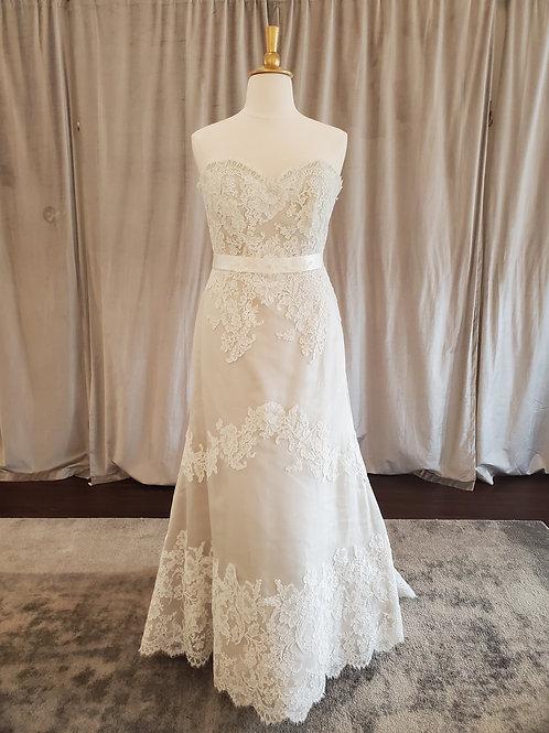 "Lea Ann Belter ""Greta"" strapless lace silk gown"
