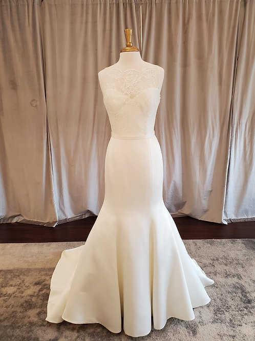 """Augusta Jones """"Saturday"""" trumpet gown with lace bodice"""
