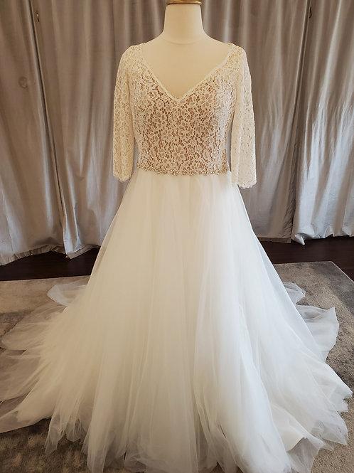 """Rebecca Ingram """"Scarlett"""" 3/4 length sleeve gown"""