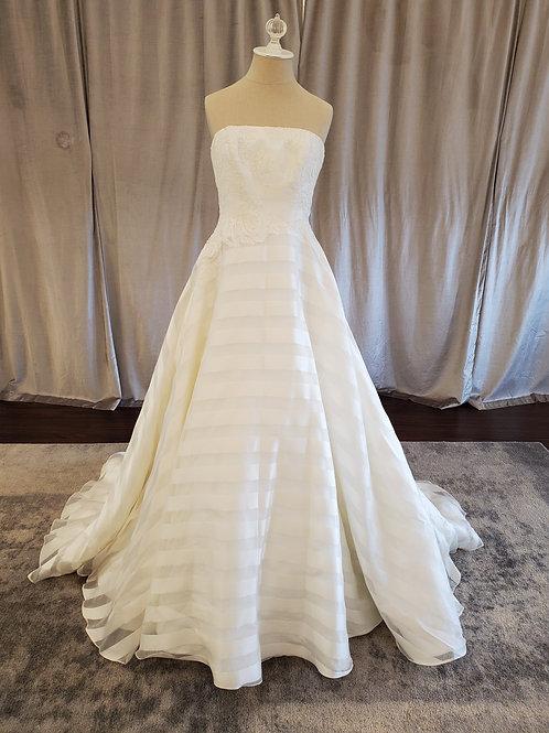 """Anne Barge """"Deauville"""" ballgown with silk stripe detail"""