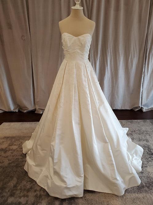 "Anne Barge ""Somerset"" strapless ballgown with brocade detail"