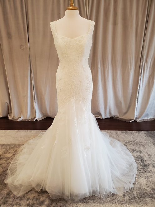 "Pronovias ""Bice"" beaded lace mermaid gown"