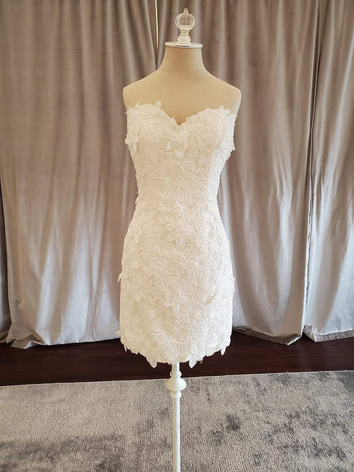 """Anne Barge """"Chatham"""" Guipure lace Cocktail length gown"""
