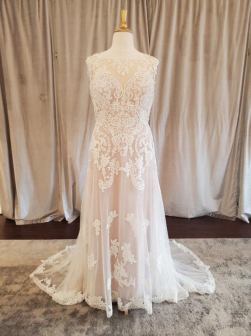 Lillian West #6512 lace A-Line gown