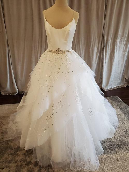 Alvina Valenta #9650 Ballgown with layered horsehair hem skirt