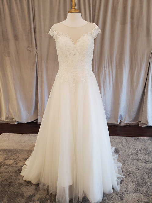 Kenneth Winston #17642 Beaded lace and tulle  a-line