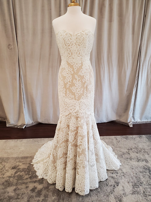 Anne Barge #617 Alencon lace fit and flare