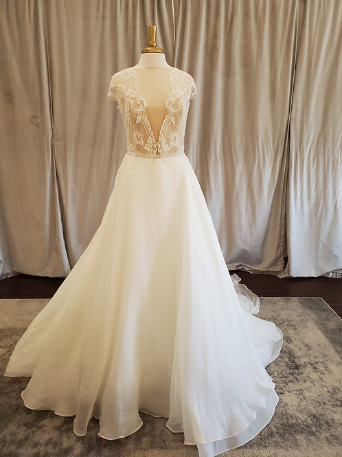 Alessandra Rinaudo #ARAB17632 Ballgown with lace top