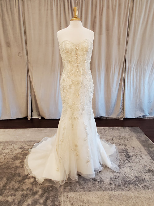 Kenneth Winston #1720 Beaded fit and flare gown