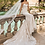 """Thumbnail: Pronovias """"Princia"""" lace Fit and Flare gown with long train"""