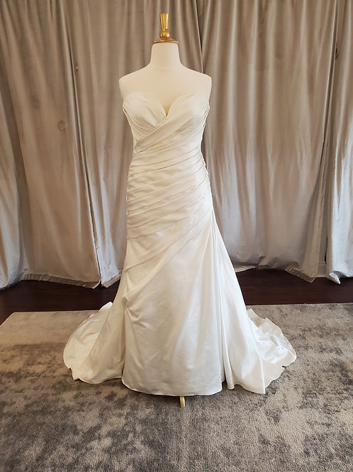 "Pronovias ""Chantal"" fitted satin gown"