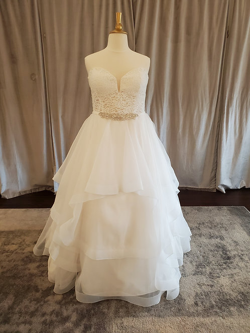 Mikaella #2192 ballgown with layered skirt