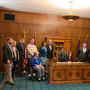Leah at the Governor's Bill Signing for ALS