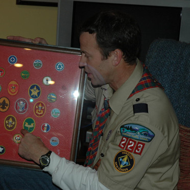 Marc With His Old Boy Scout Badges