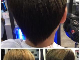 "Goldwell color""Light Matt Brown"" with short hair cut style"