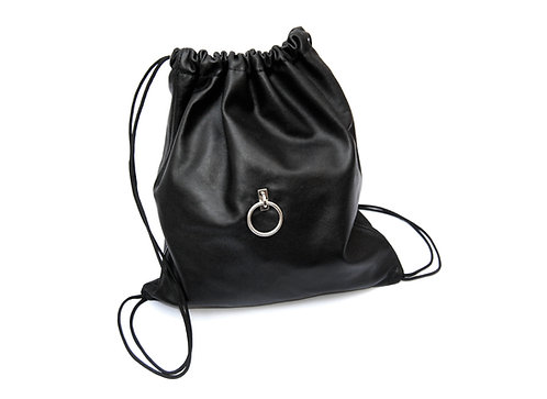 Leather sack-backpack