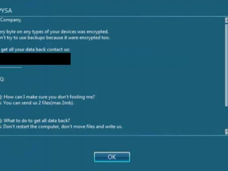 PYSA Ransomware Targeting Schools