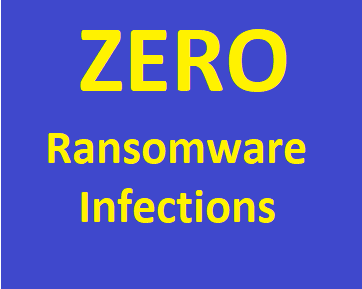 ZERO Ransomware Infections
