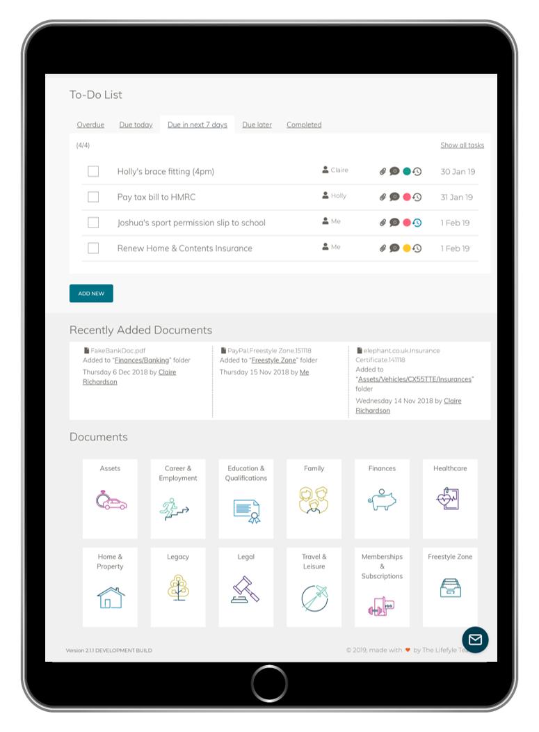 iPad, Productivity app, Life admin