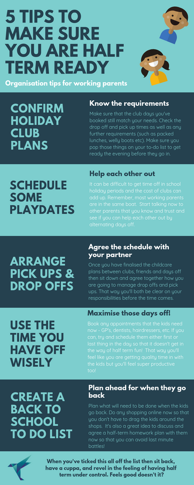 Are you half-term ready? Life Admin reminders to help you