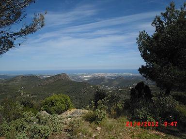 Sierra Calderona - Plaine littorale vue du Garbi