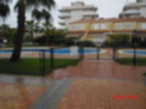Accès aux piscines de la résidence