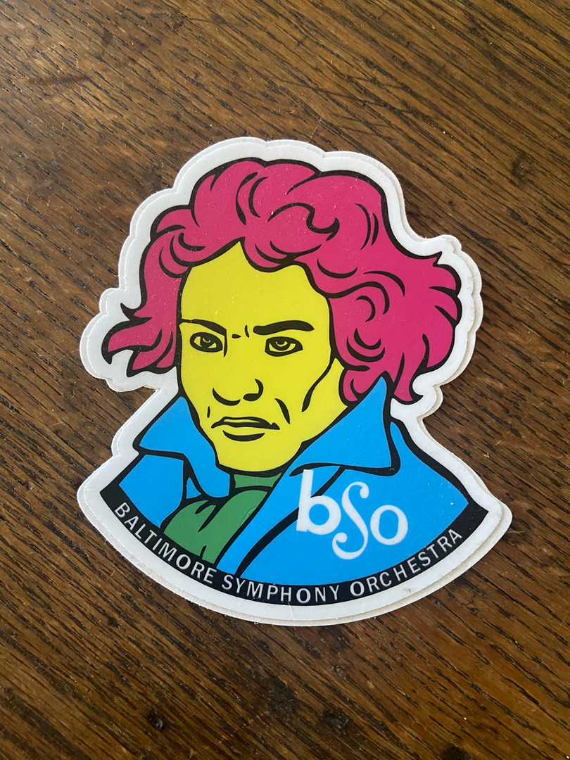 Beethoven Sticker