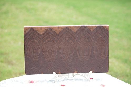 Mirrored black walnut edge grain cutting board