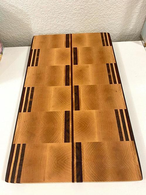 Mirrored end grain cutting board