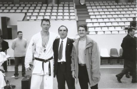 Dominique Valéra et son entraîneur