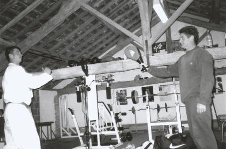 Gilles en préparation physique