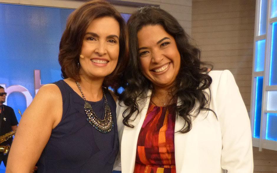 Fátima Bernardes com Simone Oliveira