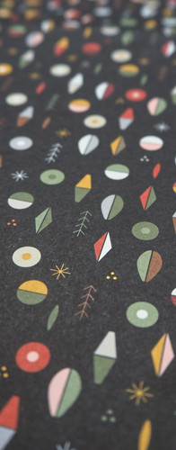 Christmas Wrapping Paper with Abstract Pattern