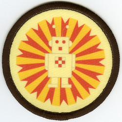 Ray the Robot sew on badge