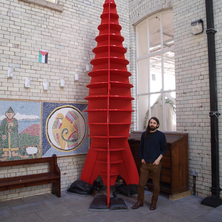 Public Art - A Big Red Space Rocket
