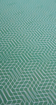 Wrapping Paper with Green Geometric Pattern