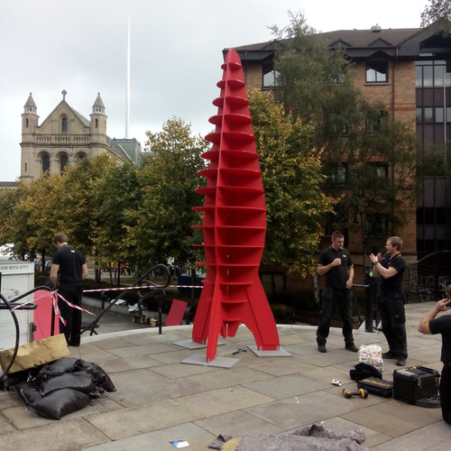 A Big Red Space Rocket